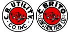 c.b. utility and c.brito construction logos